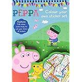 Regalo Peppa Pig Color tu propia actividad Conjunto de adhesivo Niños fiesta de Navidad