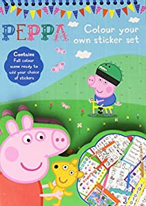 Anker Regalo Peppa Pig Color tu Propia Actividad Conjunto de Adhesivo Niños Fiesta de Navidad