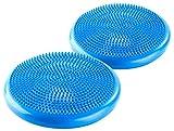 Newgen Medicals Ballsitzkissen: 2 luftgefüllte Noppen-Sitz- & Balancekissen für Yoga, Fitness & Co (Gesundheit-Sitzkissen)