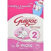 GUIGOZ 2 Dès 6 mois - Lait infantile 2ème ge en poudre de 6 à 12 mois - 2 sachets de 500g