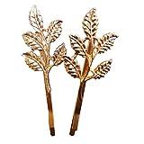 #7: Golden Leaf Punk Hairpin / Hair clip- One Pair