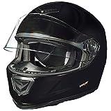 RT-720 Integralhelm Motorradhelm Motorrad Integral Roller Quad Helm Kinderhelm, Größe:M (57-58), Farbe:Schwarz