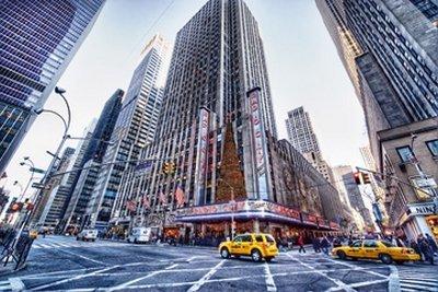 Acrylglasbild Dr. Michael Feldmann - Radio City Music Hall - 60 x 40cm - Premiumqualität - USA, Amerika, New York, Metropole, Städte, Gebäude / Manhattan, Rockefeller Center, Architektur - MADE IN GERMANY - ART-GALERIE-SHOPde - Radio City Music Hall Manhattan