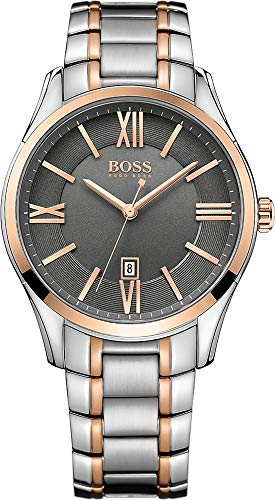 Hugo Boss 1513388 Ambassador Uhr Herrenuhr Edelstahl Edelstahl 3 bar Analog Datum Bicolor -