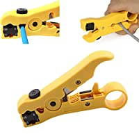 Cable Stripper Cutter Wire Stripping Tool for Flat or Round UTP Cat5 Cat6 Coax Coaxial Wire Stripper