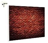 Magnettafel Pinnwand mit Motiv Muster Ziegel Steine rot Größe 80 x 100 cm