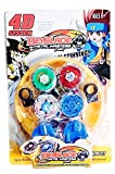 GoMerryKids 4 Metal Beyblades with LED Lights