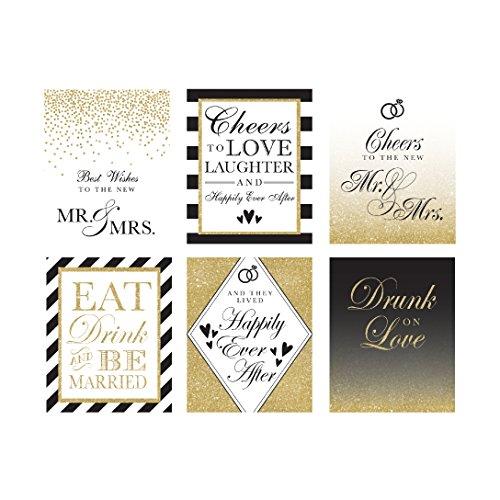 nke für Braut, Brautparty, Gastgeschenken Hochzeit Wein Flasche Etiketten (Set von 6) für uns Geschenke, Engagement Party Geschenke, Bridal Geschenke für die Braut, Wein Etiketten ()