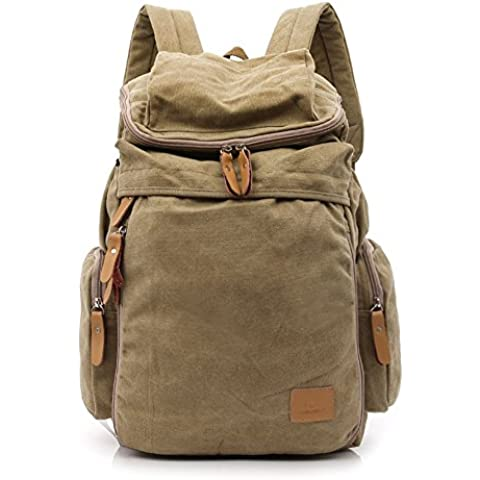 B-B Unisex Casual Canvas Large Capacity Travel Backpack Laptop