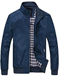 a75dd7aefc07 GOMY Men casual Jacket zipper Surfacet cappotto top a costine fondo liscio  leggero antivento