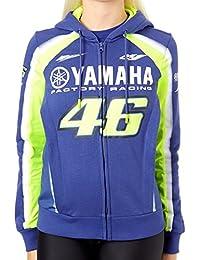 Valentino Rossi Sudadera con cremallera mujer Yamaha Racing Azul Royal