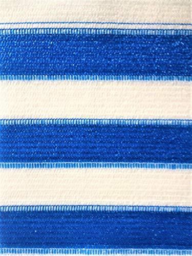 AGROFLOR filet brise vue pour le balcon ou la terrasse, avec bords renforcés et etœillets toutes les 50 cm, 100% résistant aux UV, couleur: bleu/blanc, Taille: 0,90 x 25 m