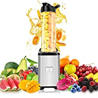 Blender Smoothies - ONEDAY 350W Mini Mixeur Blender | Bouteilles d'eau Tritan 600 ml | 23.000 rpm Moteur Puissant et 4 Lames en acier inoxydable pour Milk-shake, Smoothies et Jus de Fruits et Legumes