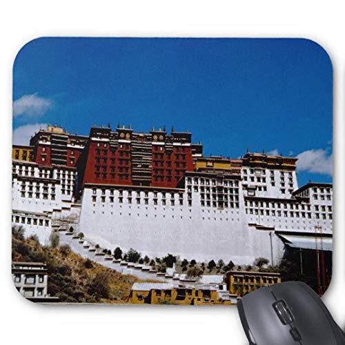 Mauspad mit seidenweicher Textiloberfl?che - Mouse Pad Paradise (antistatische Wirkung - perfekte Gleiteigenschaft PC / Computer Mousepad)-asia tibet lhasa potala palace aka red 2