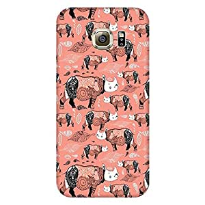 Bhishoom Printed Hard Back Case Cover for Samsung Galaxy S6 - Premium Quality Ultra Slim & Tough Protective Mobile Phone Case & Cover