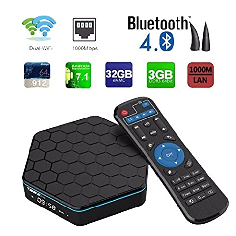 [New Arrival Android 7.1 OS] LinStar T95Z PLUS 3G / 32G Android Smart TV Box Amlogic 912 Octa-Core CPU 3GB RAM 32GB EMMC Flash 4K UHD Dual Band WIFI 2.4 / 5.8G Bluetooth 4.0
