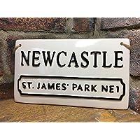 NEWCASTLE UNITED FOOTBALL SIGN-St James Park-Football Plaque-Football Street Sign-Football Gifts