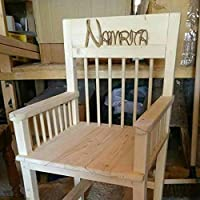 Handmade, wooden, pine, childrens, armchair, age 6-9.