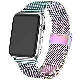 INZAKI Bracelet pour Apple Watch 38mm/40mm,Boucle en Acier Inoxydable pour iWatch pour Serie...