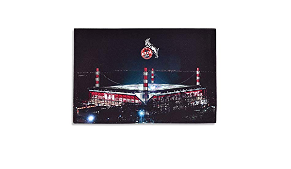 FC K/öln LED Bild 1 Plus Lesezeichen I Love K/öln Wandbild mit Beleuchtung RheinEnergieStadion Stadion