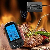 FairytaleMM Wireless Digital LCD Display Grill Thermometer Küche Barbecue Digital Tool (Farbe: schwarz)