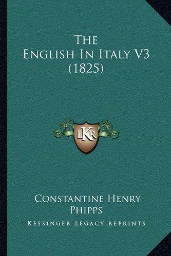 The English in Italy V3 (1825)