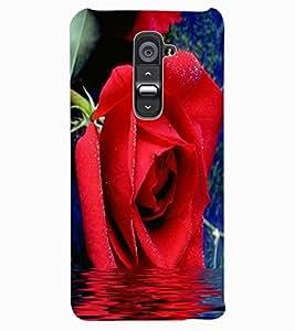 ColourCraft Beautiful Rose Design Back Case Cover for LG G2