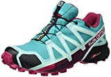 Salomon Women's Speedcross 4 GTX Trail Running Shoe, Ceramic/Aruba Blue/Sangria, Size: 44