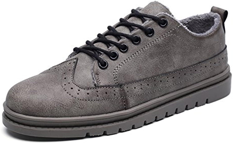 chaussures pour feifei hommes feifei pour loisirs de matériaux de haute qualité hiver chaud les chaussures en cuir en 3 couleur s ( couleur: gris, taille...b077z97t72 parent a71fc4