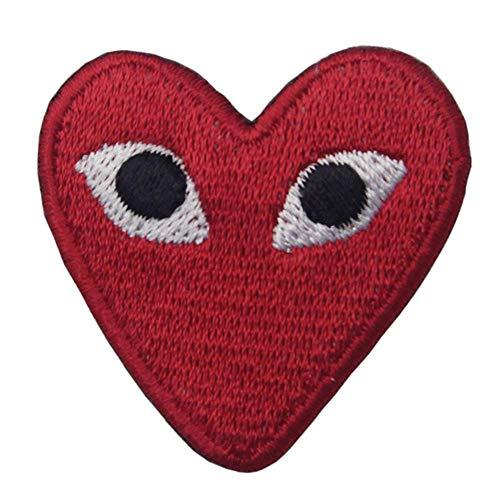 (Yililay Herz Herzform Großer Patch Augenklappe Cartoon kreativer Karikatur-Applikation Patch für Babys Kinderkleidung rot, Kunst und Handwerk liefert)