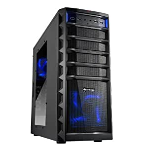 Sharkoon Technologies REX3 Value Midi-Tower PC-Gehäuse (ATX, 3x 5,25 externe, 1x 3,25 externe, 4x 3,5 interne, 2x USB 3.0, 4x USB 2.0) schwarz