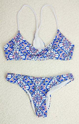 Bikini - Print - Split Badeanzug m