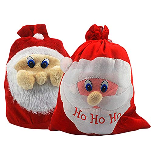 Dawwoti 1PCS Creativo Decoraciones Navidad Bolsa Material