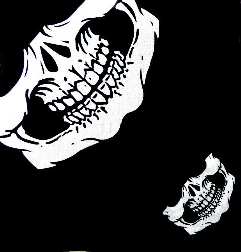 na Mundschutz Zantana - Skull Face (Metal Skull Biker Kostüm)