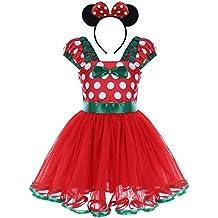 OBEEII Ragazze Vestito Bambina Polka Dots Tutu Principessa Abiti Estivo  Senza Maniche Costume per Carnevale Festa 6b540578471
