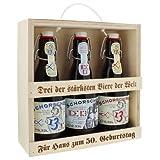 Bier-Set für starke Männer mit Ihrer individuellen Gravur - eine persönliche Geschenkidee für den Vatertag