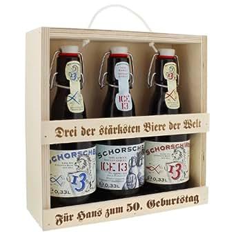 Bier-Set für starke Männer mit Ihrer individuellen Gravur - eine persönliche Geschenkidee für den Valentinstag