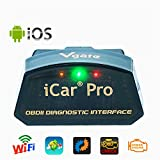 Vgate iCar Pro WiFi OBD2 Scanner Scan Tool OBDII Auto Diagnose Tool Code Leser Fehler Check Engine Licht Für iOS iPhone iPad/Android Kompatibel mit ELM327 Adapter