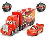 Dickie Toys 203088002 -'Cars 3 Turbo Racer Mack Truck + Lightning McQueen, RC Fahrzeug Set, ferngesteuerter LKW, ferngesteuertes Auto, 1:24, 46cm