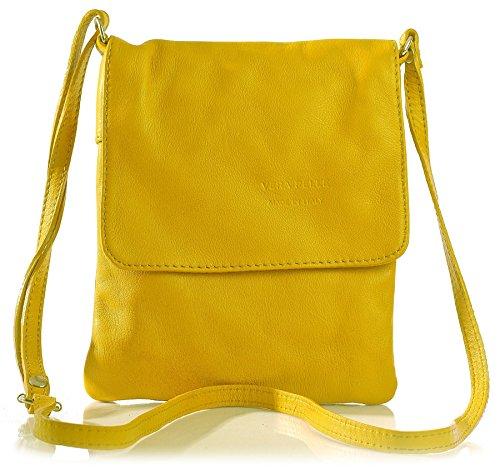 Big Handbag Shop - Borsa a tracolla donna Giallo (giallo)