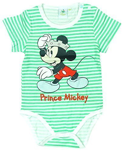 Jungen Baby Kleinkind Disney Prinz Micky Maus Body Strampler größen von 3 bis 24 Monate - Grüne Streifen, 92 (Prinz Outfits Für Kleinkinder)