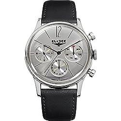 ELYSEE Men's 38012 Classic-Edition Analog Display Quartz Black Watch