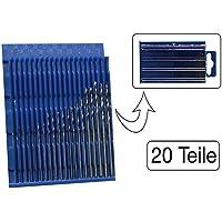 20 teiliges Set Mini HSS Bohrer 0,3 mm - 1,6 mm