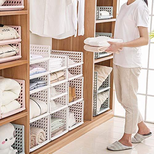 Homieco stoccaggio cassetti scaffali vestiti 3 colori organizer basket scaffale accatastamento cassetti mobili per la casa divisorio divisorio pannelli da gioco cube snack contenitori, beige/l
