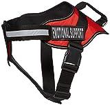 Dogline N0208–3-0232Alpha Nylon Vest Service Harness, Large, Rot