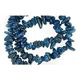 Lungo Filo 195+ Blu Ottanio Apatite 5-8mm Chips Perline - (GS3168) - Charming Beads