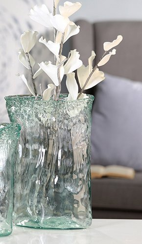 Diseño exclusivo de protector de pantalla de cristal en forma de jarrón...