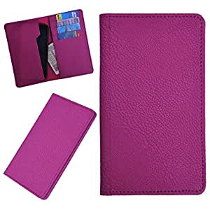 DSR Pu Leather case cover for Videocon A45 (pink)
