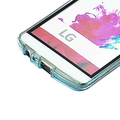 Vandot Etui Transparent Case pour LG G4 Stylus LS770 Coque de Protection en TPU Gel Invisible avec Absorption de Chocs Etui TPU Silicone Case Ultra Slim Thin Hull pour LG G4 Stylus LS770 Souple Couver Transparent-Blue