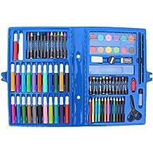 leisial 86pz escolar Pintura Herramientas Aquarelle Juego de pirografía (Colores Lápices farbstiften aceite pastel